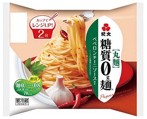[冷蔵] 紀文 糖質0g麺ペペロンチーニソース付き 麺150g+添付ソース付