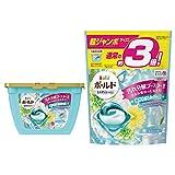 【まとめ買い】 ボールド 洗濯洗剤 ジェルボール 3D 爽やかプレミアムクリーンの香り 本体 17個入 + 詰め替え 超ジャンボ 46個入