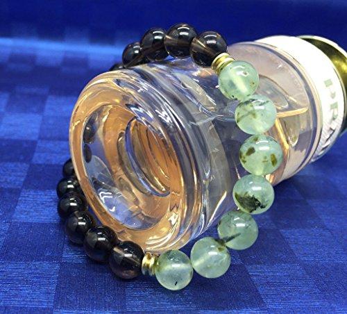 (アモールウィング)AmorWing スモーキークオーツ(茶水晶)プレナイト 浄化守護パワーストーンブレスレット8mm レディース