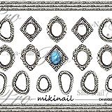 写ネイル ネイルシール Sha-NailCharm Metal Frame Silver CH-MIKI02