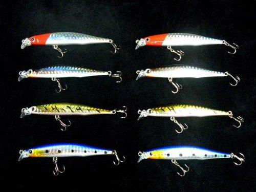 [해외]루어 농어 미노우 8cm8 개 세트! /Lua Sea Bass Minn 8cm 8 pieces!