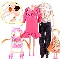 Nice Days(ナイス ディズ)  おもちゃ 人形服 30cm 幸せな5人の家族 バービー服アクセサリー セット (2#)
