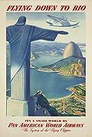 Pan Am–Rioヴィンテージポスター(アーティスト:匿名) USA C。1936 16 x 24 Giclee Print LANT-73756-16x24