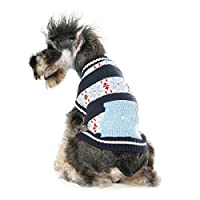 HAKN ペット用コットンパーソナリティー服春秋型ラウンドネック中型犬用コート(カラー:レッド、ブルー) ( 色 : A , サイズ さいず : Xs xs )
