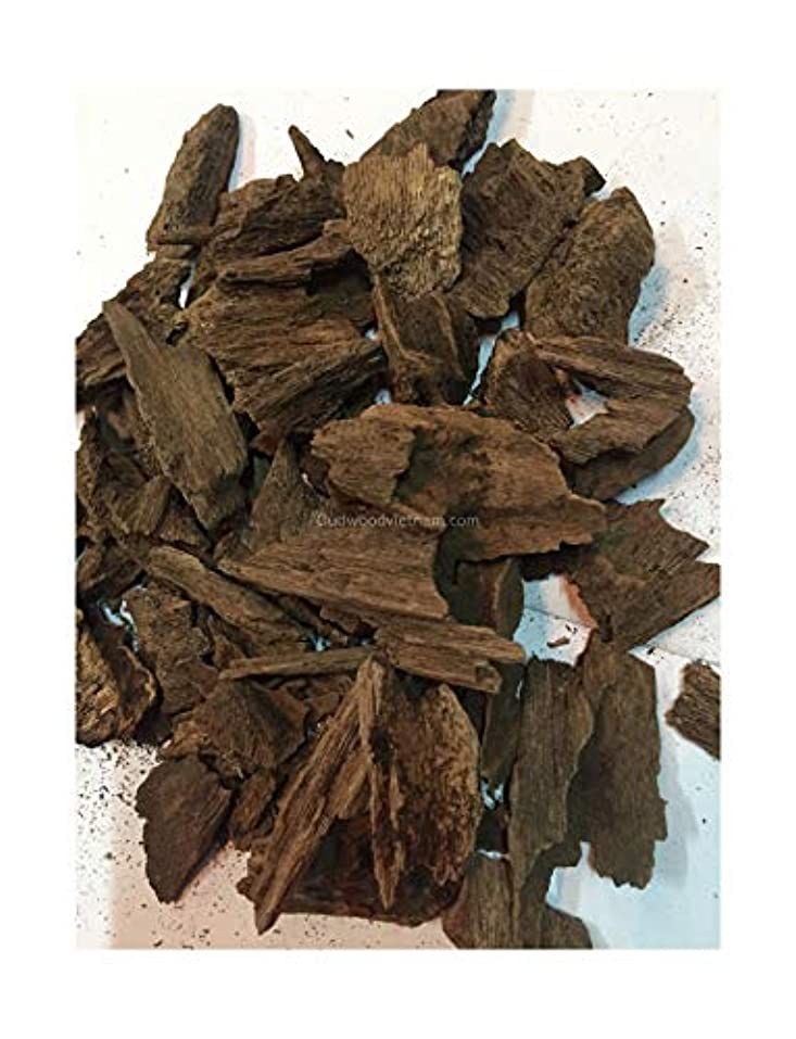 バージンシェルター下品オウドチップス オードチップ インセンス アロマ ナチュラル ワイルド レア アガーウッド チップ オードウッド ベトナム 純素材 グレードA++ 10 Grams ブラック