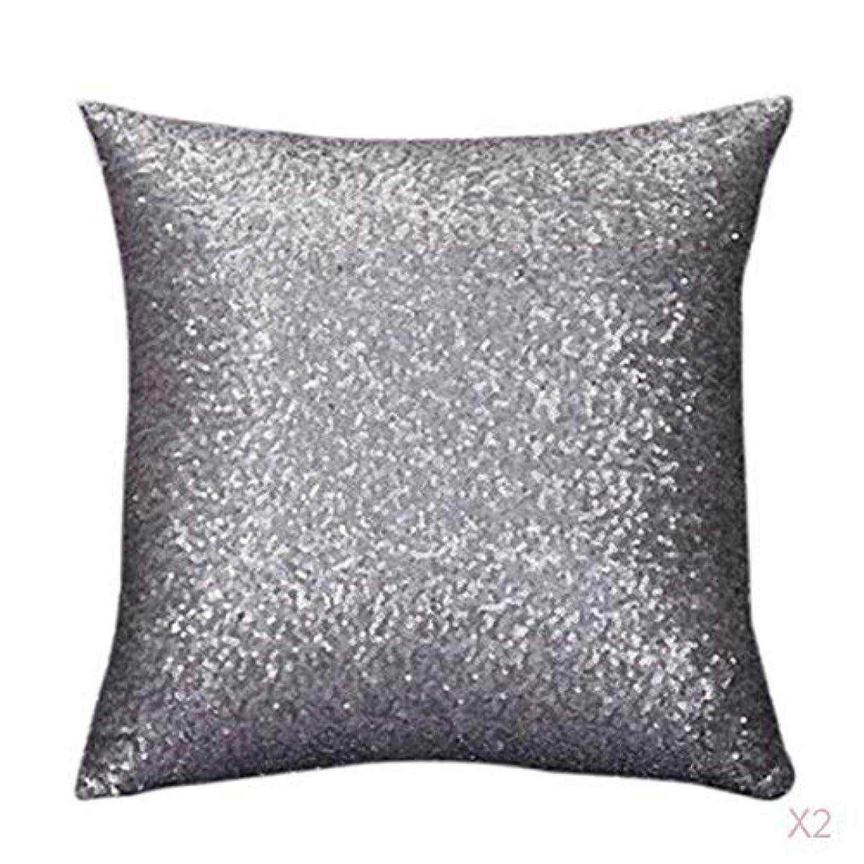 観察花火許容できるファンシースパンコールソファスクエア枕クッションカバーケースは、ホームインテリアグレーを投げます