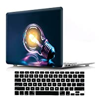 2018 2017 2016 Macbook Pro 15 inch Cover Case with Keyboard Protector,DIGIC Hard Plastic Laptop Shell with Keyboard Cover Skin for Macbook Pro 15.4 inch with Touch Bar A1990 A1707,Big bulb