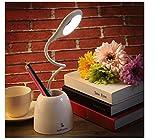 LEDデスクライト 筆立て付 LEDMOMO 無段階調光 タッチセンサー 角度調整 目に優しい電気スタンド USB充電対応 省エネ メモリー ホワイト