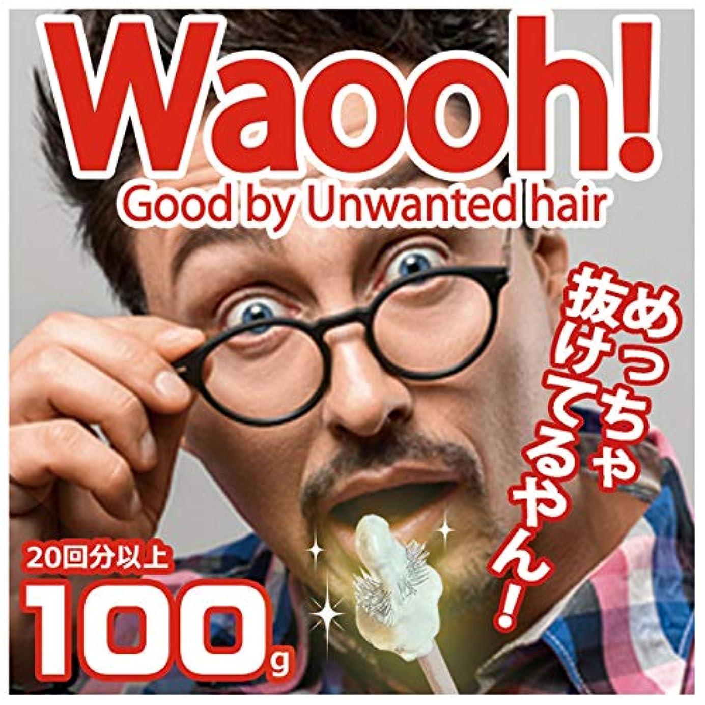 [Waooh]鼻毛 脱毛 ノーズワックス 鼻 ブラジリアン ワックス キット 男女兼用 (100g 20回分(????のみ))