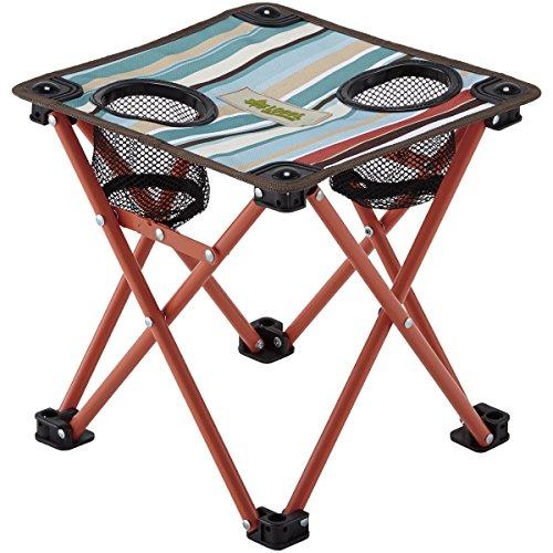 ロゴス ストライプ コンパクトテーブル(ブルー)