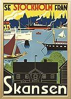 絵画 スカンジナビアンアート スカンセン 1955年 額入り アートフレーム 壁掛け 飾る リビング インテリア 北欧 プレゼント ギフト ポスター