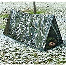Tradico® Waterproof Folding Emergency Camping Shelter Tarp Tent Outdoor Sports Silver