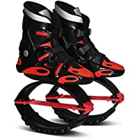 Air Kicks Anti-Gravity Running Boots Unisex Fitness Jump Shoes Bounce Shoes,Red,44