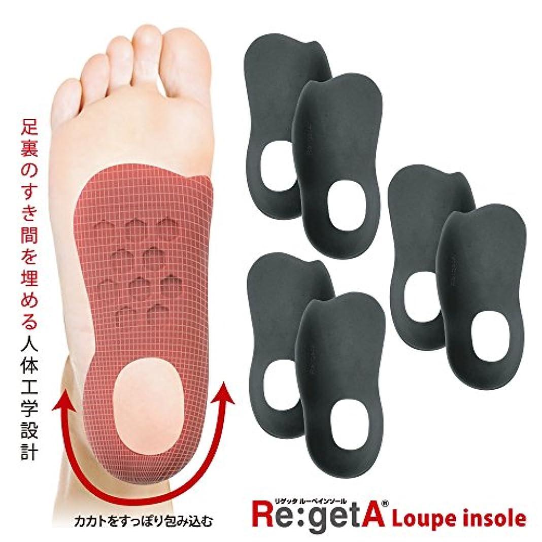 スケートウェイド悪いリゲッタ(Re:getA) ルーペインソール ブラック 3足組 レディスサイズ 21.5-25.0cm対応