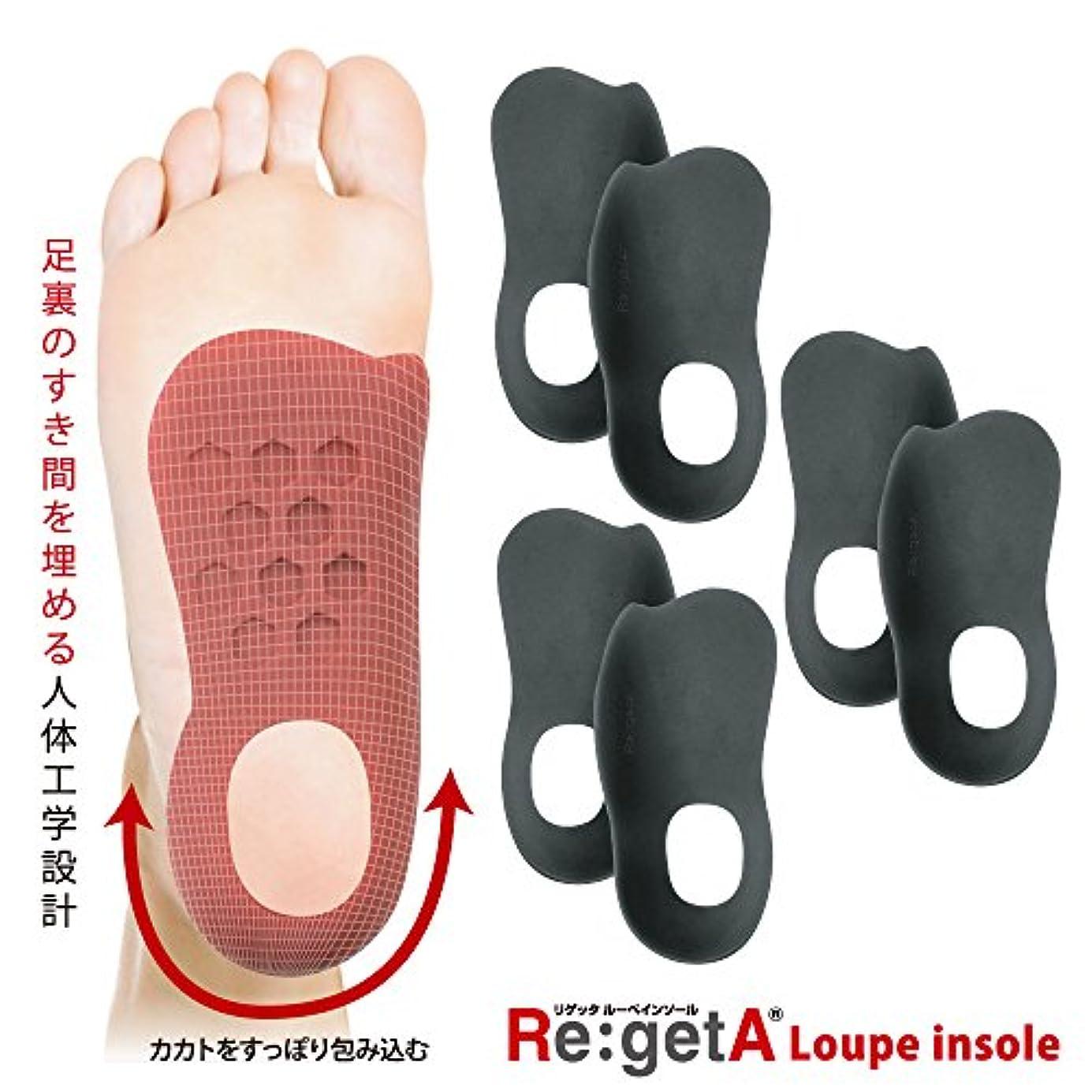 最大マウス削減リゲッタ(Re:getA) ルーペインソール ブラック 3足組 レディスサイズ 21.5-25.0cm対応