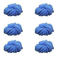 6パックソフト糸分厚い大きなボールブランケット糸超かさばる DIY かぎ針編みの,J