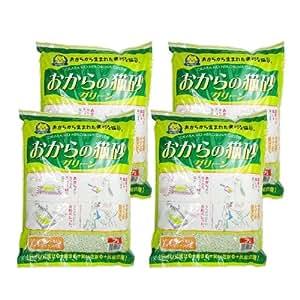 常陸化工 おからの猫砂 グリーン 7L × 4個