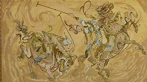 超高級ペルシャ絨毯/絵画タペストリー 「ポロ POLO」