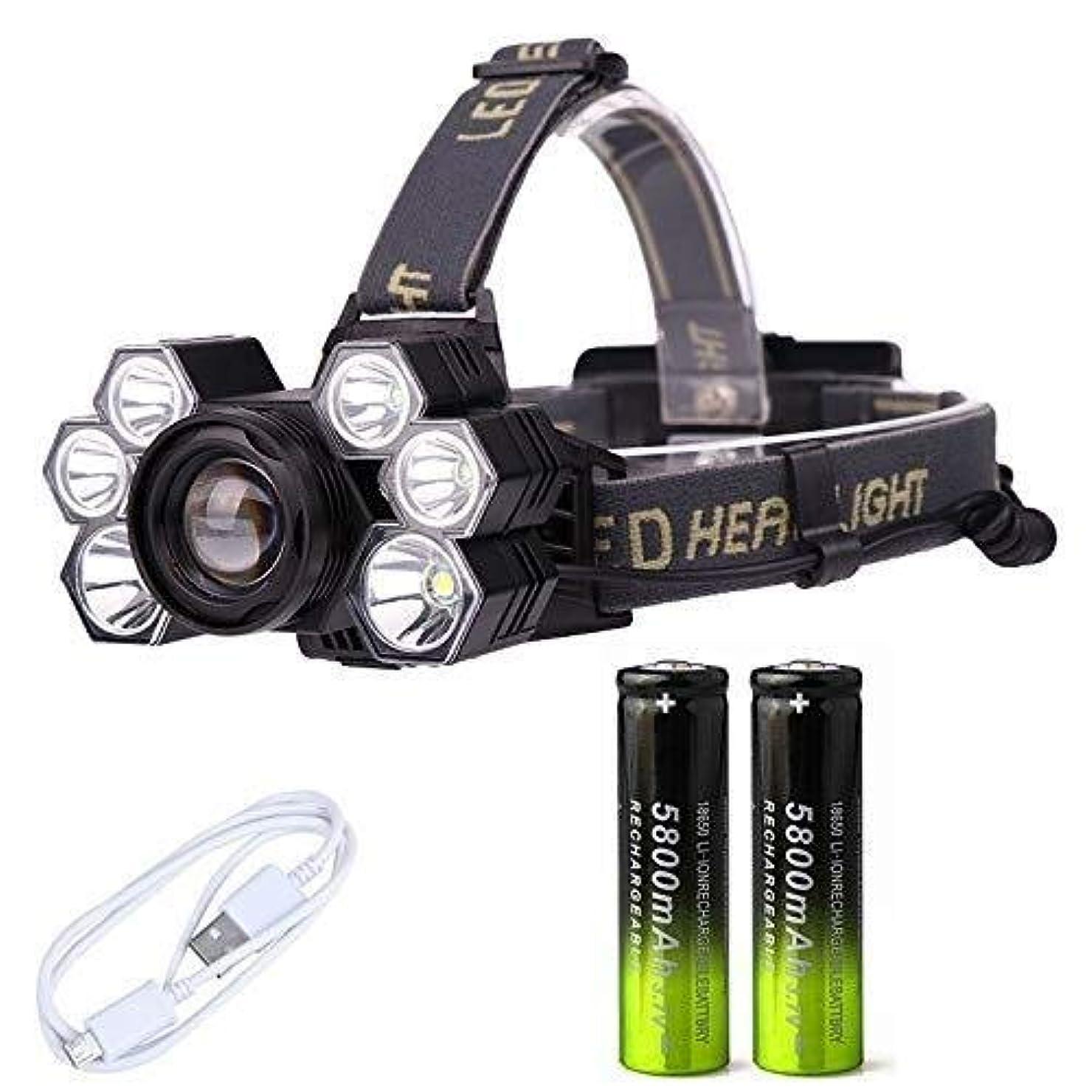 人道的梨組ヘッドランプは、LEDヘッドランプズーム可能なヘッドライト防水ヘッドトーチ懐中電灯ヘッドランプ釣り狩猟ライト18650バッテリー ヘッドライト