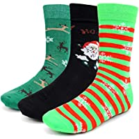 Men's Christmas Socks - 3 Pair - Assrtd Designs, Fits 10-13/Shoe Size 6-12.5 - Bring on the Holidays!