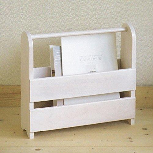 BREA 日本製 木製 マガジンラック おしゃれ リビング (ホワイト)