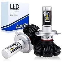 [AutoSite] LEDヘッドライト H4 Hi/Lo 切り替えタイプ ファンレス 3000k 6500k 8000k カラーフィルム付 12v 取付簡単 AS65