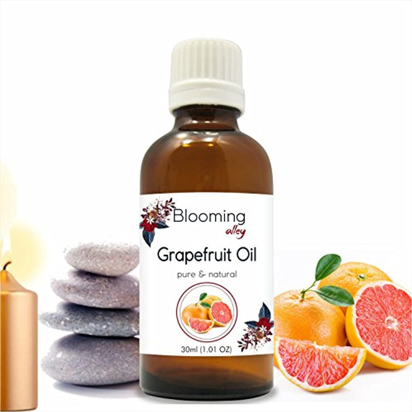 哲学的側銀Grapefruit Oil (Citrus Paradisi) Essential Oil 30 ml or 1.0 Fl Oz by Blooming Alley