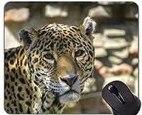 賭博のマウスパッドの習慣、ステッチされた端が付いているヒョウのヒョウのマウスパッド