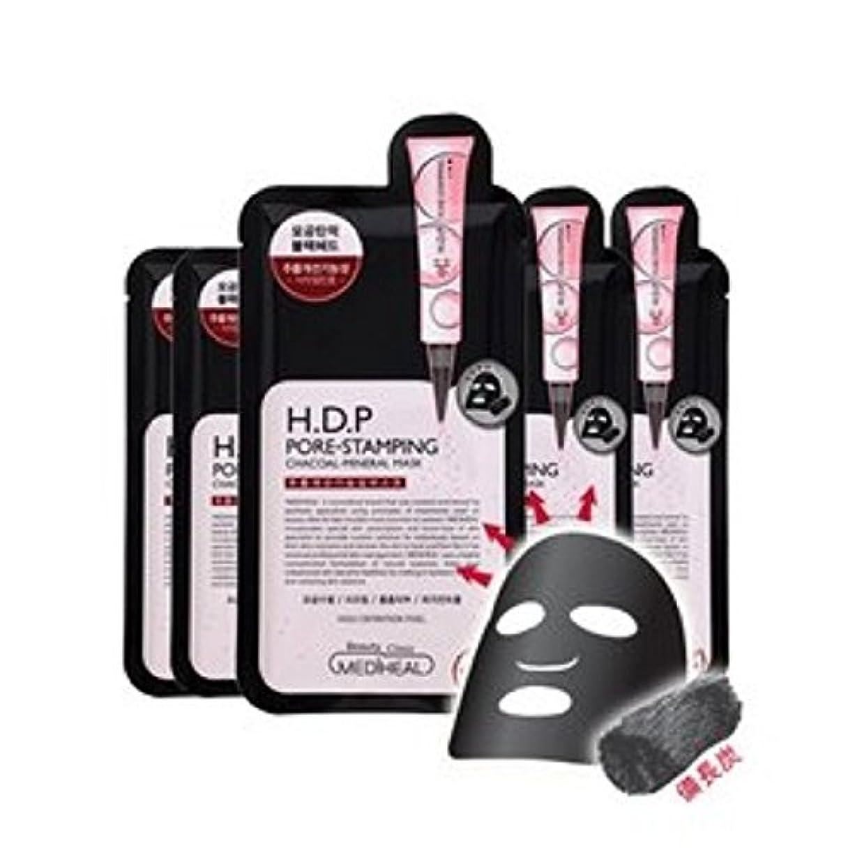爆発物恐ろしい合理化メディヒール(Mediheal) H.D.P 毛穴スタンプ炭ミネラルマスク Pore stamping Charcoal mineral mask (10枚) [海外直送品][並行輸入品]
