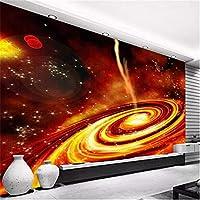 Zwlbp カスタム写真壁紙3Dドリームレッドユニバース天の川背景壁壁画リビングルームテレビソファ子供寝室漫画壁紙-150X120Cm