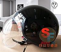 多色選択可能 バイク ヘルメット バイク用  高密度ABS ダブルシールド ジェット 3/4ヘルメット ハーレー サングラス付き PSC付き 春、夏、秋、冬NERVE-POLI[商品4/L]