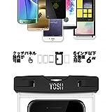 防水ケース スマホ用 YOSH® iPhone7/7Plus 海/温泉 iPhoneとAndroid 6インチ以下全機種対応 ネックストラップ付属 IPX8認定 2枚セット