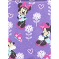Disney's Minnie Mouse Lilac Blanket Hearts Butterflies Flowers by Disney