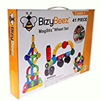 bizybeez Magstixホイールセット、41 Pieces : : sensory Magnetic Building Blocks & Fidget Stem Toy for Kids with自閉症、ADHD、不安、& Other特別なニーズ: : for boys & girls age 3 to 12