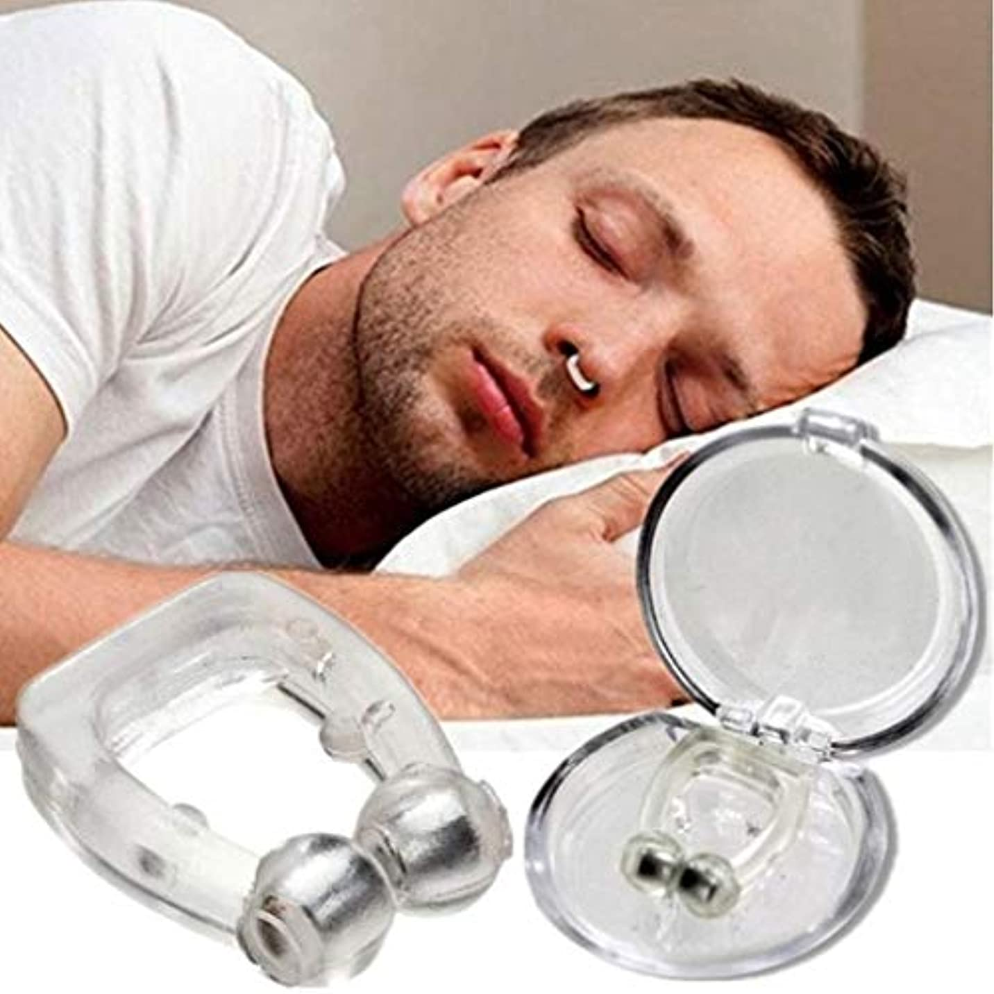 シュリンク動く直感アンチいびきノーズクリップ-キャリーケース付き寝具