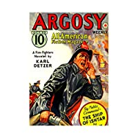Comics Argosy All American Fireman Fire Flame Action Wall Art Print 漫画アメリカ人火災火災壁