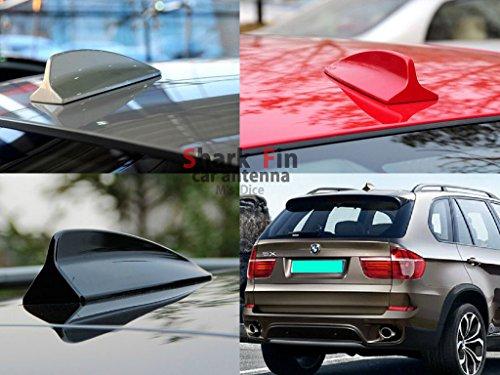 (エムズダイス)M's Dice 汎用 シャーク フィン ルーフ ドルフィン カー アンテナ BMW 風 《選べる8カラー》 (01.ホワイト) M's Dice