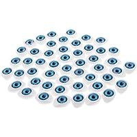 Dovewill  約50個 プラスチック製 人形の目 23 * 16mm 全4色選ぶ - ブルー
