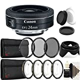Canon EF - S 24mm f / 2.8STMレンズwith Accessoryバンドルfor Canon EOS Rebel t3、t3i、t5、t5i , and sl2