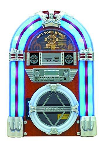 ジュークボックス型MP3・Bluetooth 対応SD/USB/CDラジオ HNB-MX2500(WH)