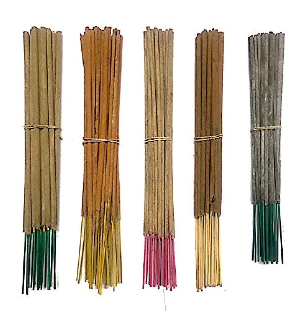 つぼみ海外でファイバInaki Incense Sticksプレミアム5 Fragrance Infused with Essential Oilsパック40 gm各 – Natural長持ちホーム&インドアFragrance (200グラムパック)