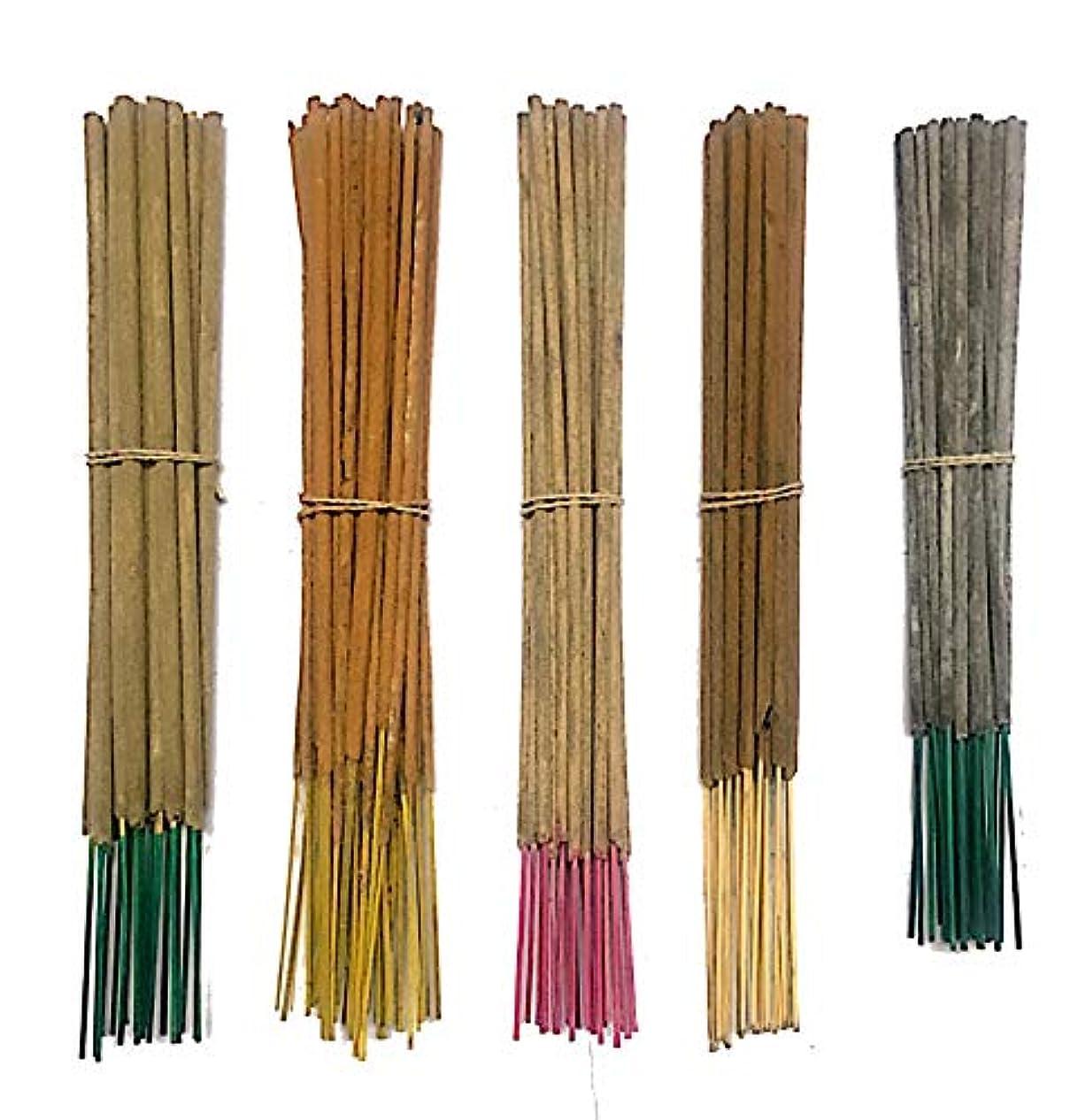 芽エンドテーブルアジアInaki Incense Sticksプレミアム5 Fragrance Infused with Essential Oilsパック40 gm各 – Natural長持ちホーム&インドアFragrance (200グラムパック)