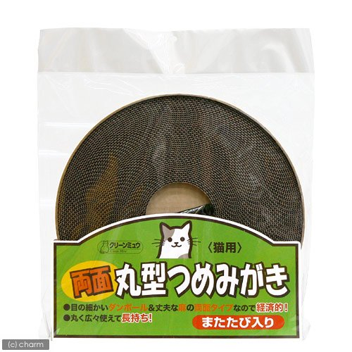 シーズイシハラ クリーンミュウ 両面丸型つめみがき 1枚  猫 爪とぎ  Z