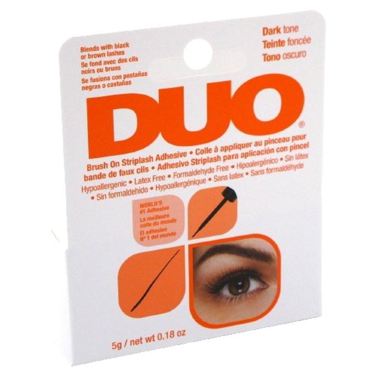 ばかげているインフルエンザ原子炉(6 Pack) DUO Brush On Striplash Adhesive - Dark Tone (並行輸入品)