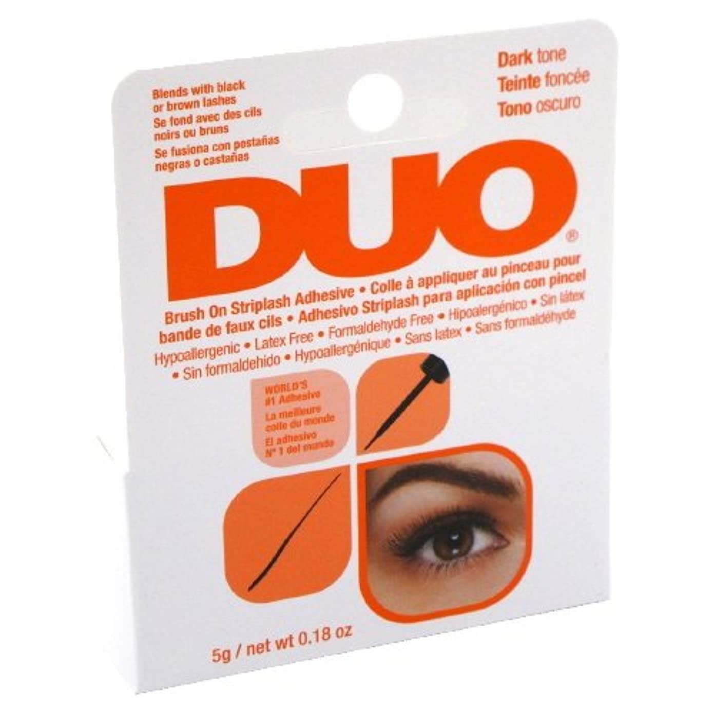 キャリアかび臭いスポンジ(6 Pack) DUO Brush On Striplash Adhesive - Dark Tone (並行輸入品)