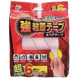 アイリスオーヤマ カーペットクリーナー 強粘着テープ ななめカット 6巻入り DKC-K6P