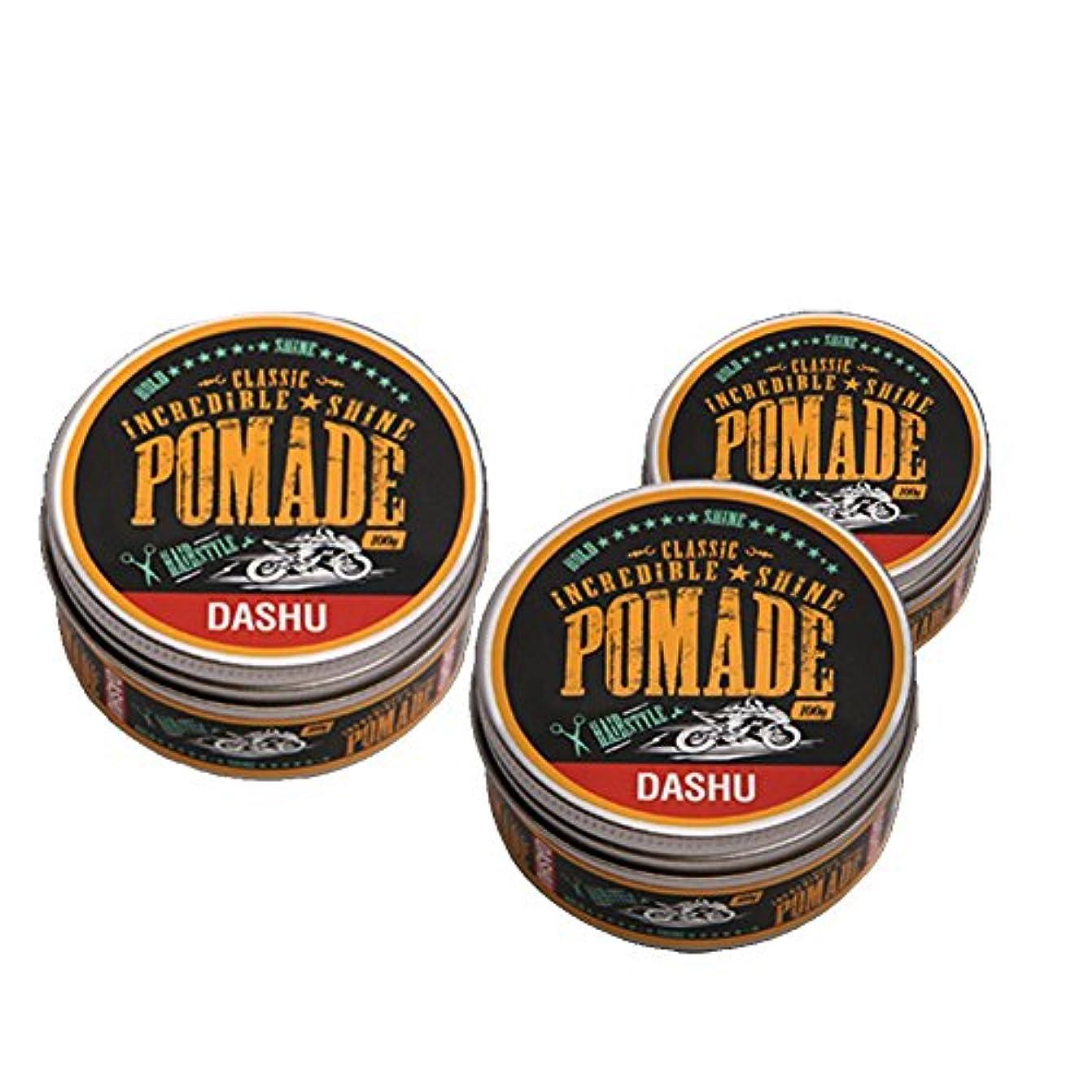 前兆語不潔(3個セット) x [DASHU] ダシュ クラシック 信じられないほどの輝き ポマードワックス Classic Incredible Shine Pomade Hair Wax 100ml / 韓国製 . 韓国直送品