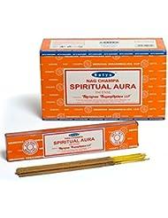 Satya Nag Champa スピリチュアルオーラ お香スティック アガーバティ180グラムボックス | 15グラム入り12パック 箱入り | 輸出品質