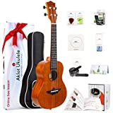 Tenor Ukulele 26 Inch Ukele Ukelele Solid Mahogany Uke With Free Online Lessons 8 Packs Beginner Starter Kit ( Gig Bag Picks Tuner Strap String Cleaning Cloth Instruction Book Gift Box ) From AKLOT