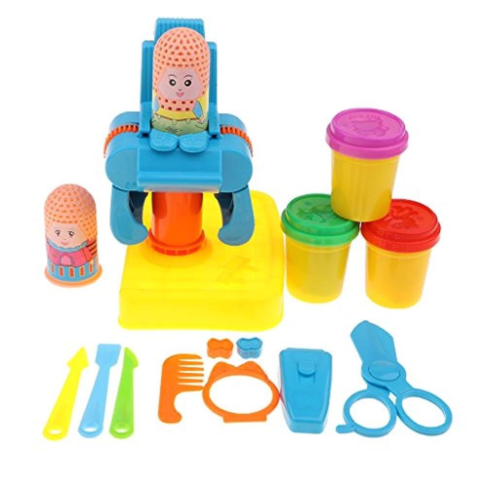 B Blesiya プラスチック製 髪ヘア モデリングモデル 粘土 クレー 理容師おもちゃ プレイセット
